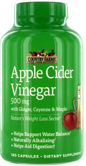 APPLE CIDER VINEGAR 500MG (COUNTRY FARMS