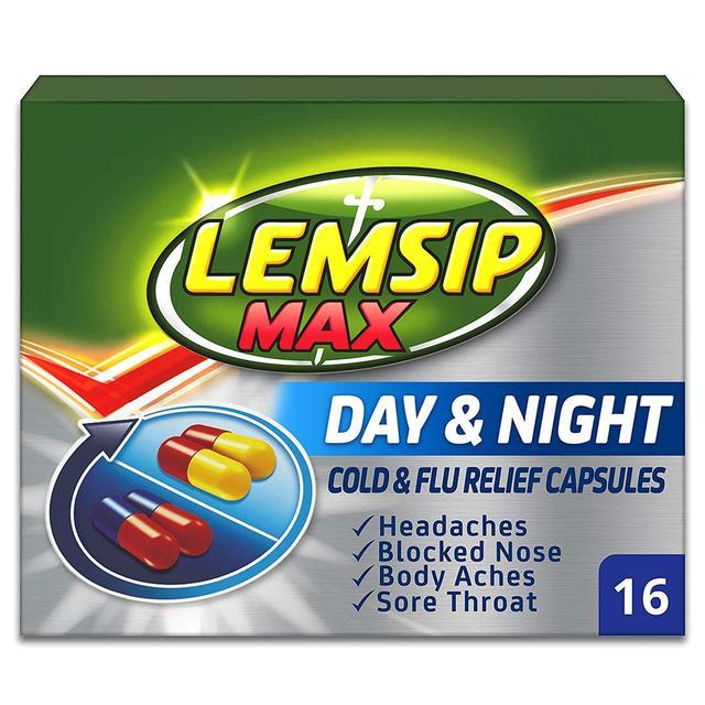 LEMSIP MAX DAY & NIGHT *16 CAPSULES PACK