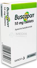 BUSCOPAN  HYOSCINE BUTYLBROMIDE *CD 10mg