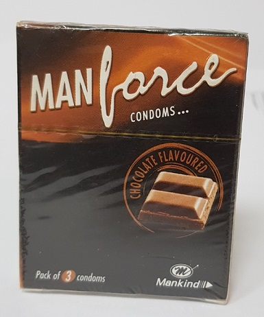 MAN FORCE CONDOMS CHOCOLATE FLAVOURED