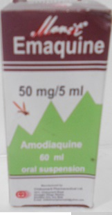 MERIT EMAQUINE AMODIAQUINE  50MG/5 60ML