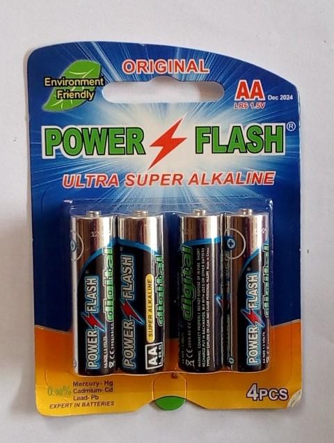 POWER FLASH ULTRA SUPER ALKALINE AAA 4PC