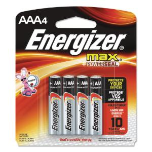 Energizer Max AAA4 Battery x 4
