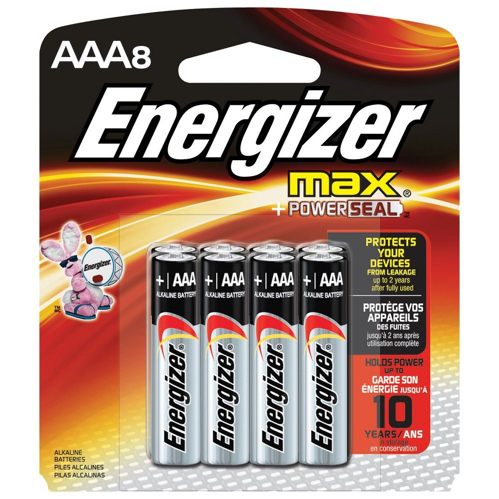 Energizer Max AAA8 Battery x 8