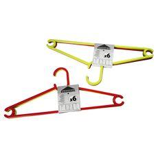 Rozenbal Cintre Plastic Hanger x6