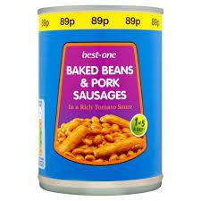 Best-One Baked Beans & Pork Sausage 405g