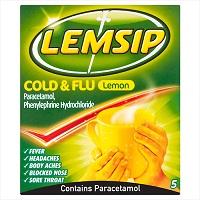 LEMSIP COLD & FLU LEMON X 1 SACHET