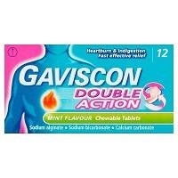 GAVISCON MINT FLAVOUR CHEWABLE*12