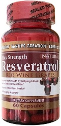 Earth creation Max Resveratrol x60 caps