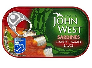 John West sardines in spicy tomato 120g