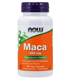 NOW MACA 500MG X100 VEG CAPS