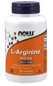 NOW L-ARGININE 500MG AMINO ACID X100 CAP