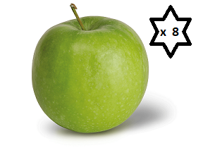 FRESH APPLES x 8 (Medium) *PACK