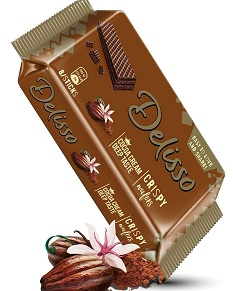 DELISSO CRISPY WAFERS COCOA BISCUIT 100g