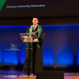 Rector presenteert Erasmus Initiatives tijdens Dies