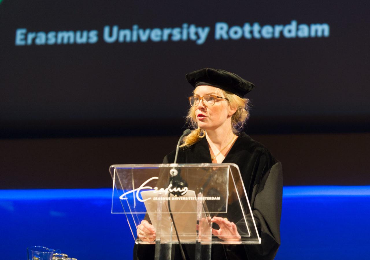 Beatrice de Graaf bij de Opening van het Academisch Jaar 2015-2016