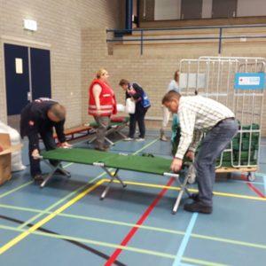 bedden opvang vluchtelingen erasmus sport