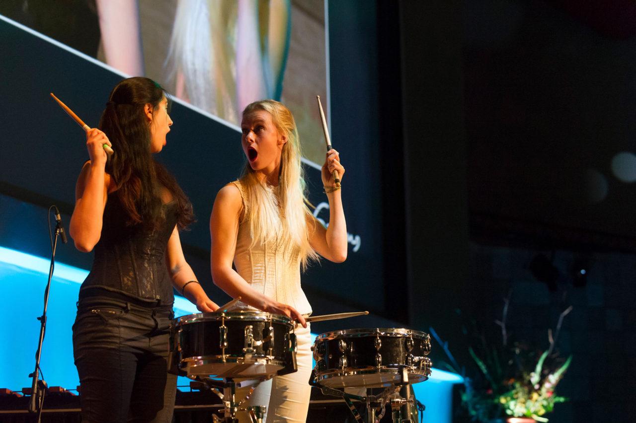 codarts trommelende meisjes podium kunst muziek