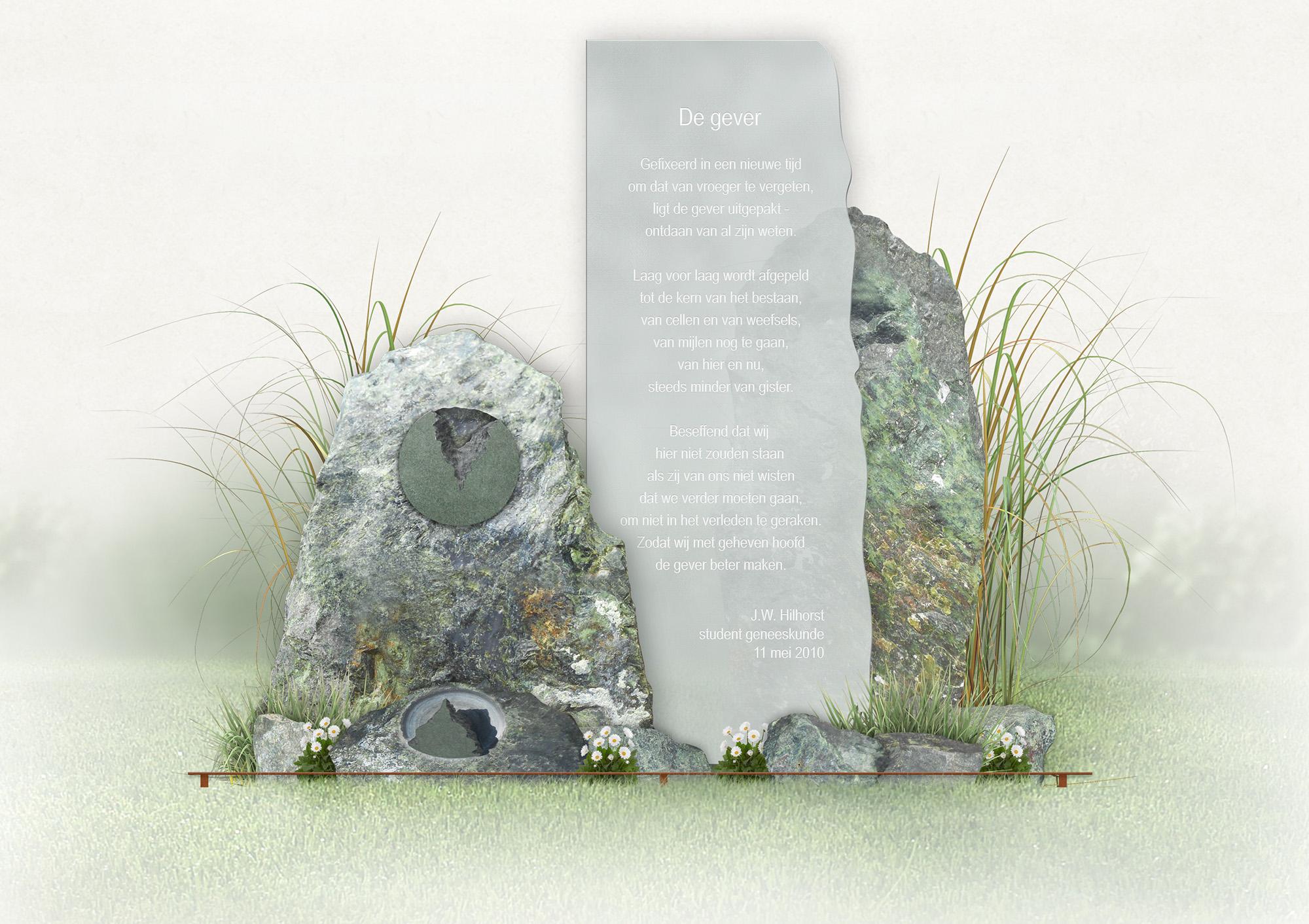de gever monument body donation memorial