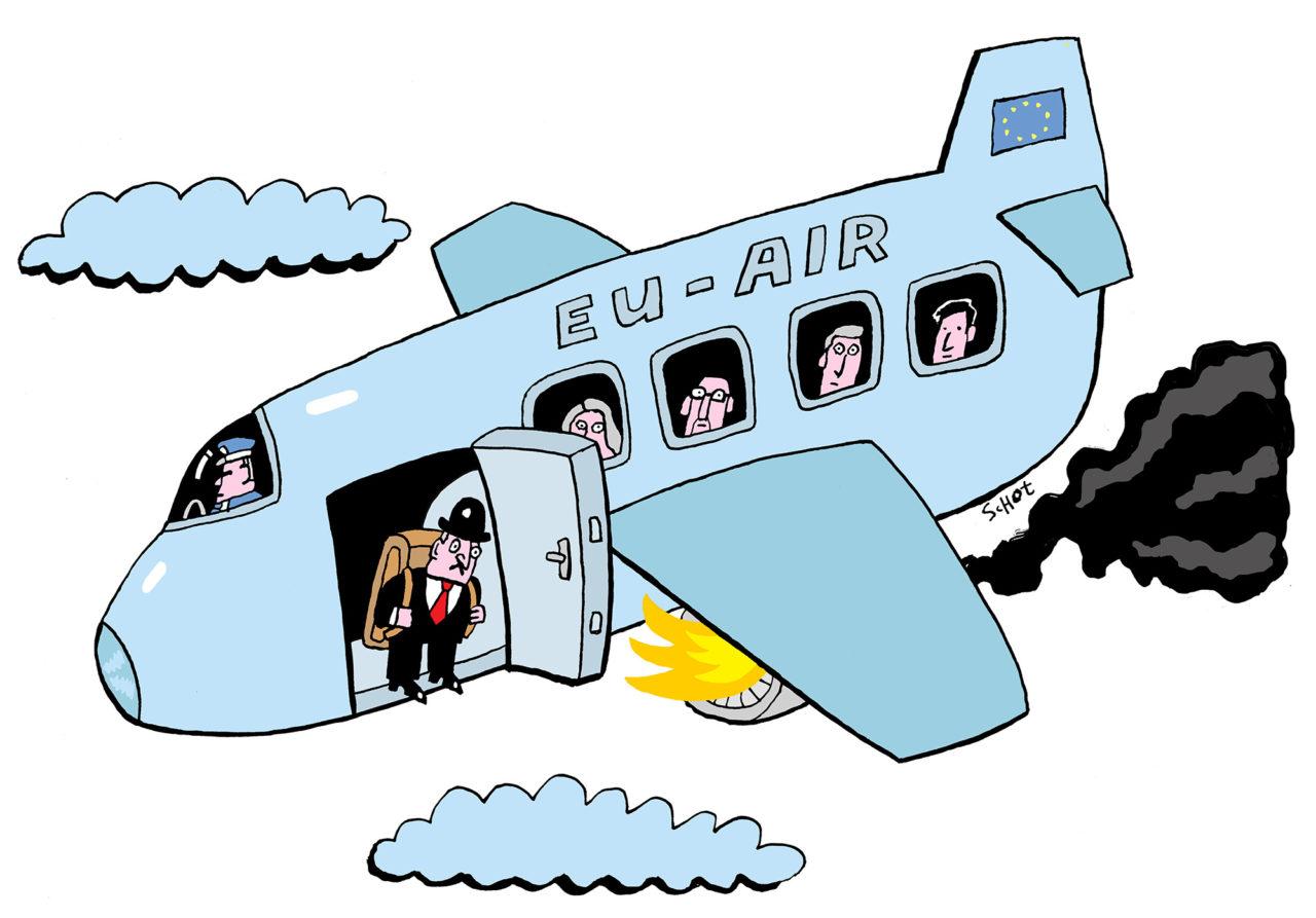 em-brexit vliegtuig europa eu