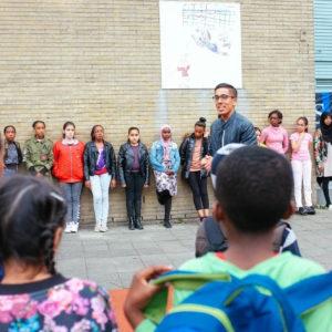 Zaalvoetballers RS organiseren samen met schoolkinderen buurtfeest