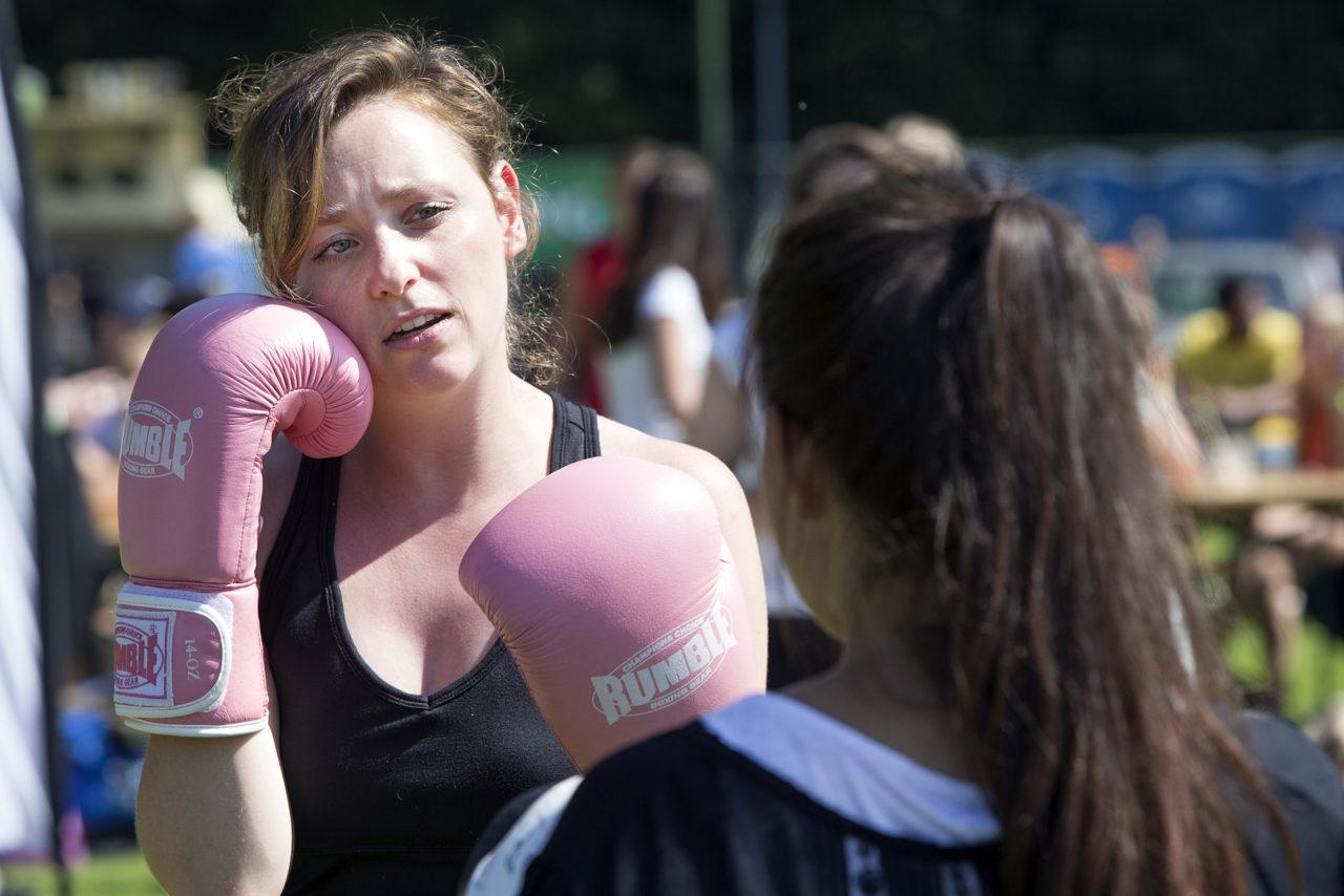 Erasmus Boxing. Eurekaweek 2016 PAC festival Kralingse Plas donderdag (2)