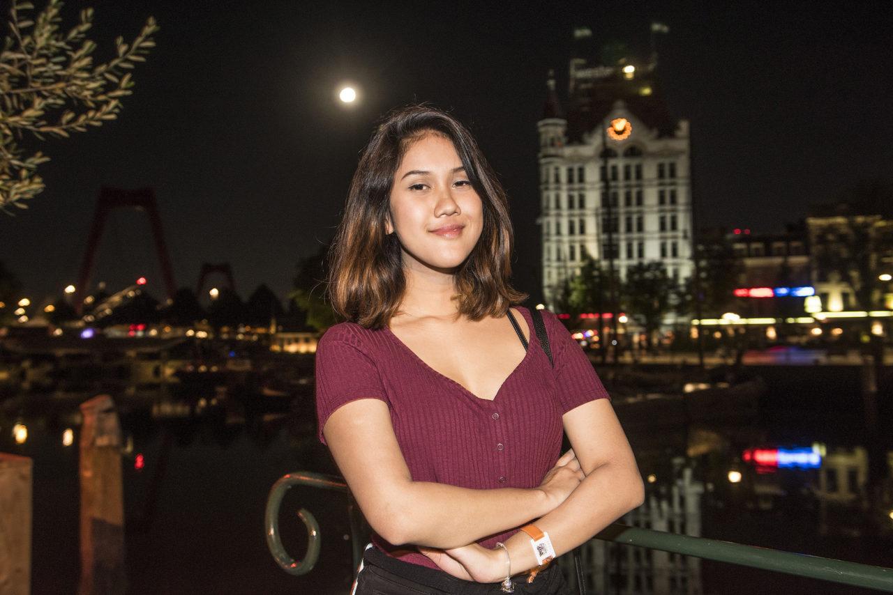 ESN feestje voor internationale studenten in Plan C. Oude haven vollemaan
