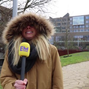 Temperaturen onder nul op de campus