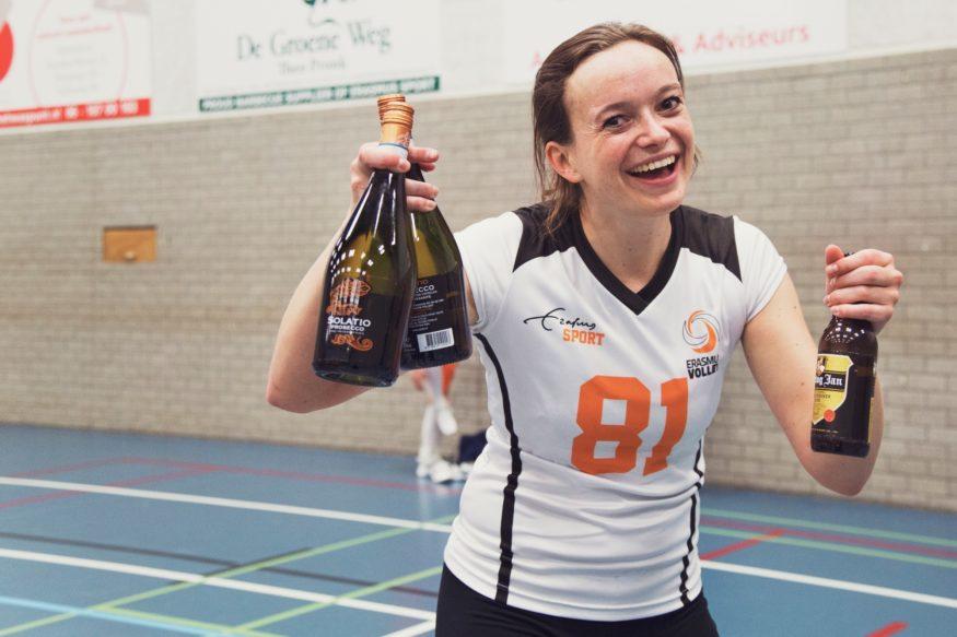 Lisette Krassenburg Erasmus Volley Dames kampioen City Bril Krimpen