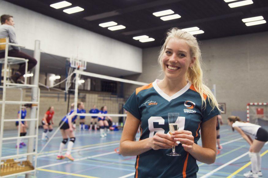 Lotte Witbreuk Erasmus Volley Dames kampioen City Bril Krimpen