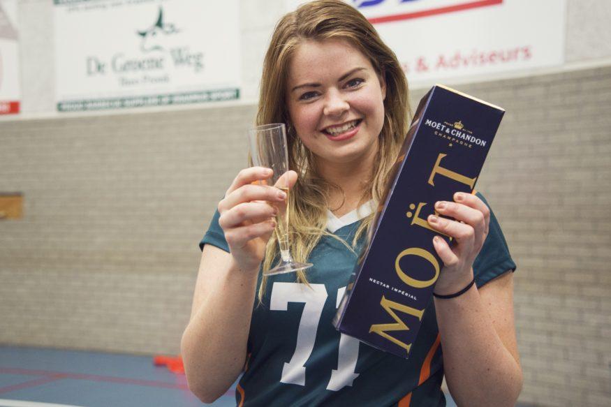 Esmee Waaijer Erasmus Volley Dames kampioen City Bril Krimpen