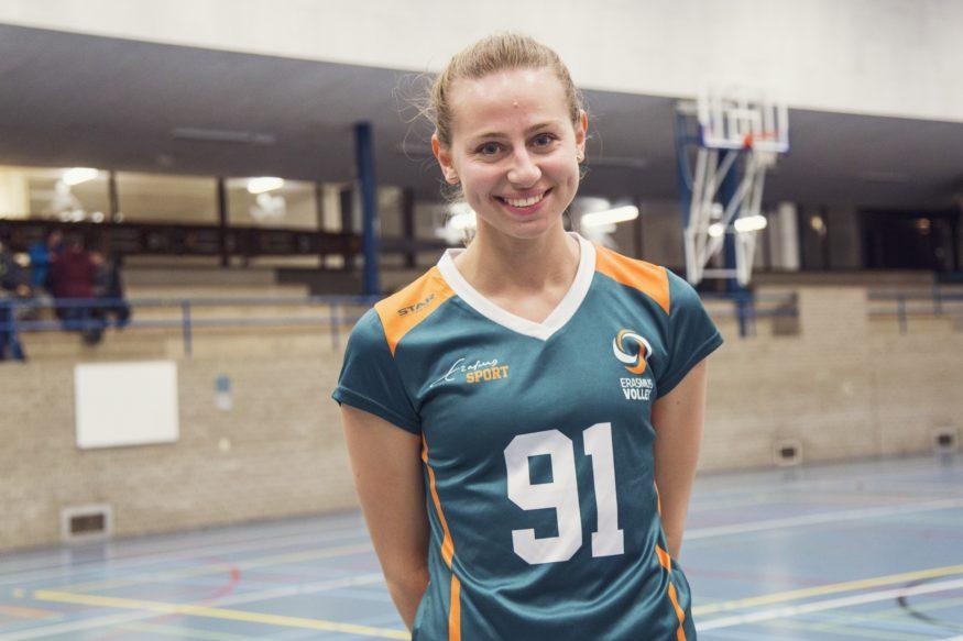 Franziska Lange Erasmus Volley Dames kampioen City Bril Krimpen