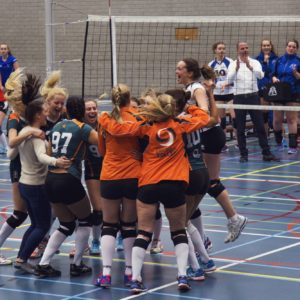 Erasmus Volley Dames kampioen City Bril Krimpen 3