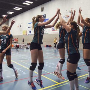 Erasmus Volley Dames kampioen City Bril Krimpen 4