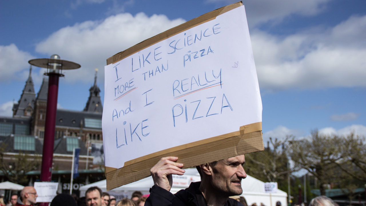 3. march for science 22 april musemplein pizza