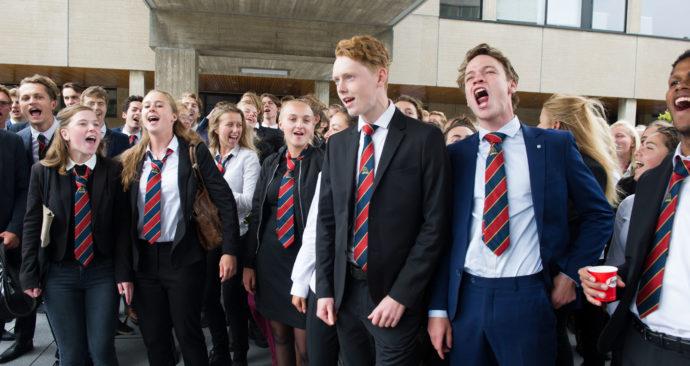 Studenten Opening Academisch Jaar