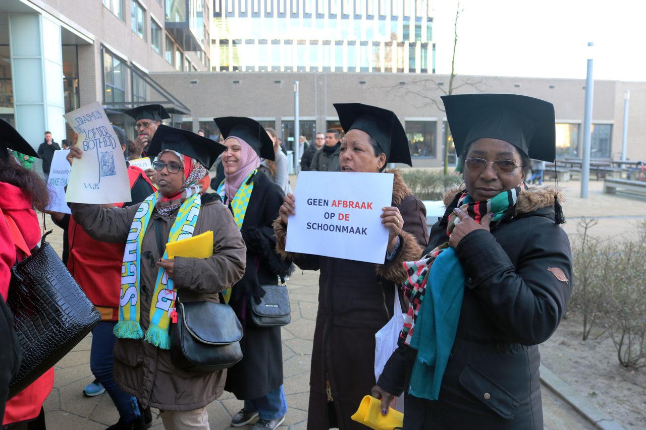 schoonmakers-asito-protestactie-fnv-campus-werkdruk-foto-elmer