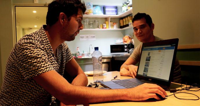 Mateo en Angel in King Kong Hostel