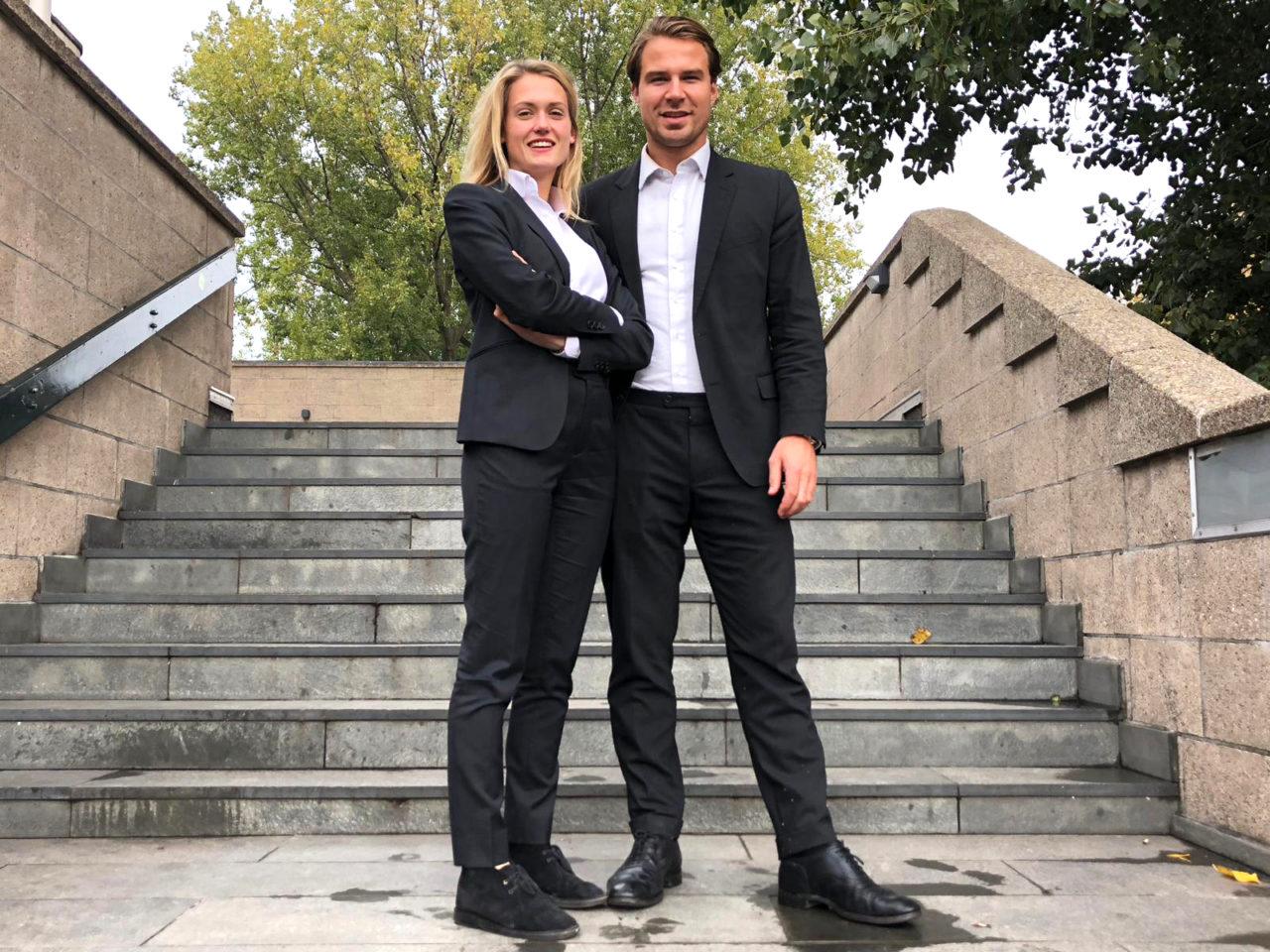 RSC/RVSV-president Amber Schothorst en vice-president Stijn-Houben