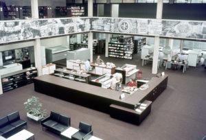 Uitleenzaal UB omstreeks 1970