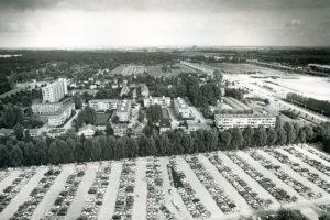 Metrostation Kralingse Zoom in aanbouw (ca 1980)