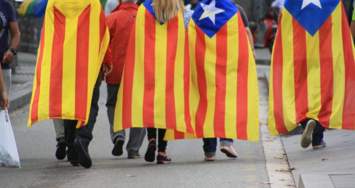 Barcelona Catalonie protest demonstratie