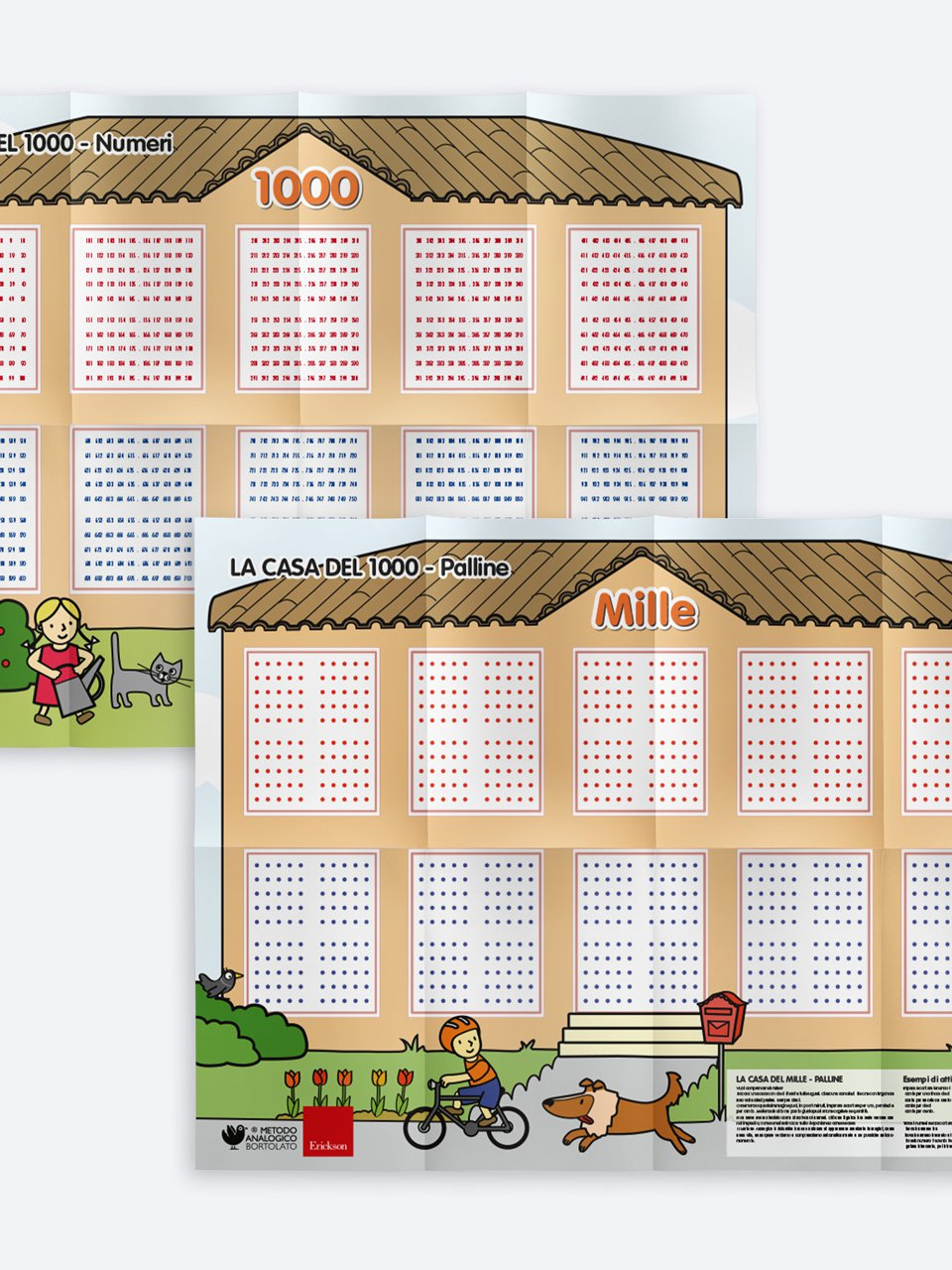 La casa del 1000 - Cartelloni murali - Apprendere con il metodo analogico e la LIM 1 - App e software - Erickson