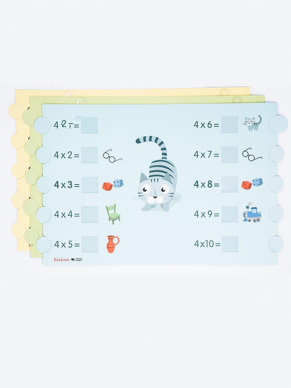 Imparare le tabelline - Cartelloni murali - Competenze e valutazione metodologica - Libri - Erickson