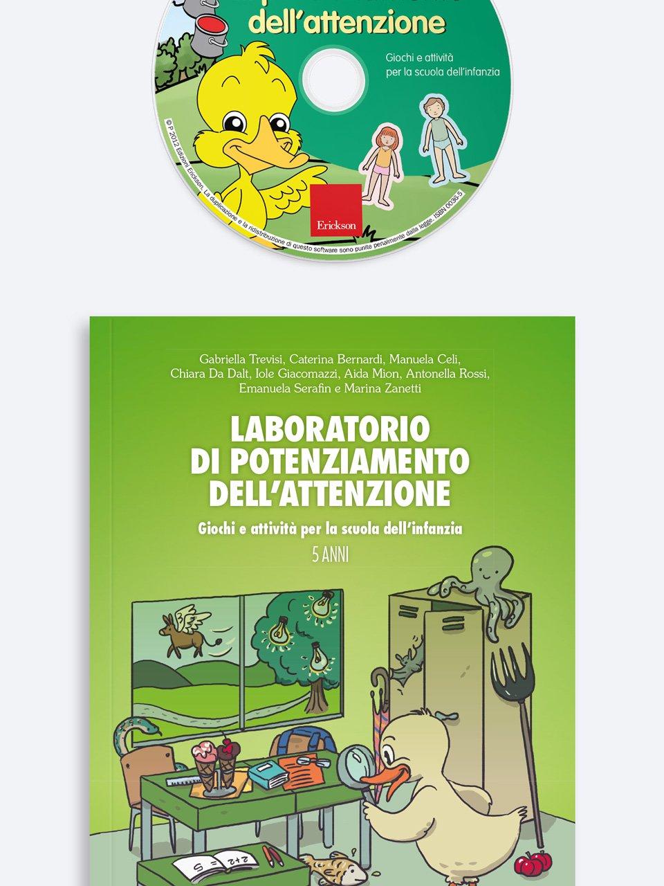 Laboratorio di potenziamento dell'attenzione - Conosco il mondo con la LIS - Libri - Erickson 3