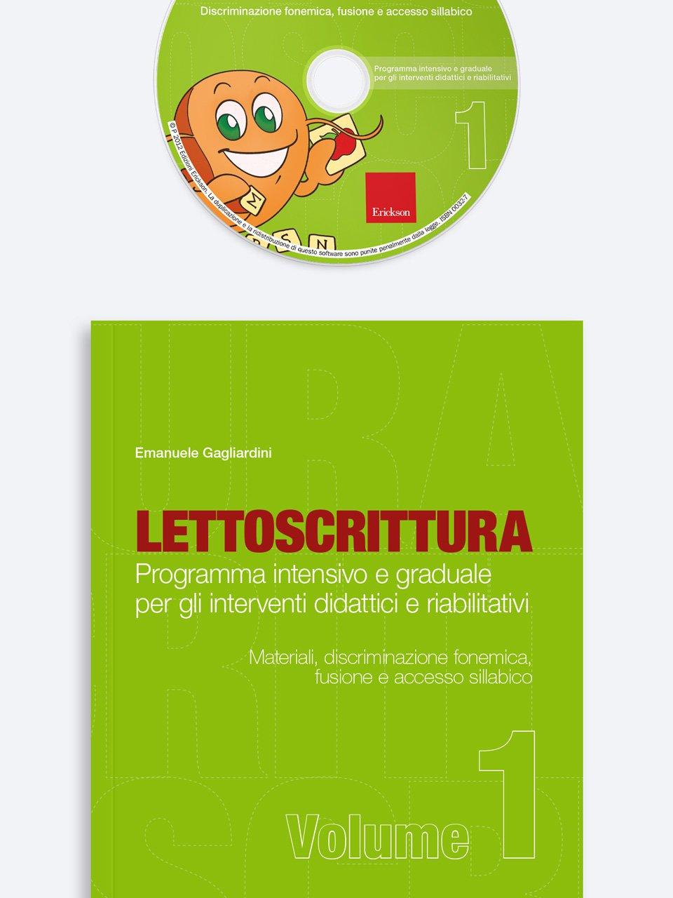 LETTOSCRITTURA - Volume 1 - RECUPERO IN... Abilità di lettura 2 - Libri - App e software - Erickson 4
