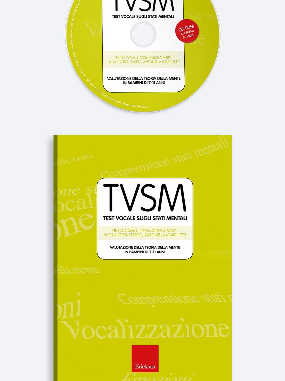 Test TVSM - Test Vocale sugli Stati Mentali - Test TINV - Intelligenza non verbale - Libri - Strumenti - Erickson