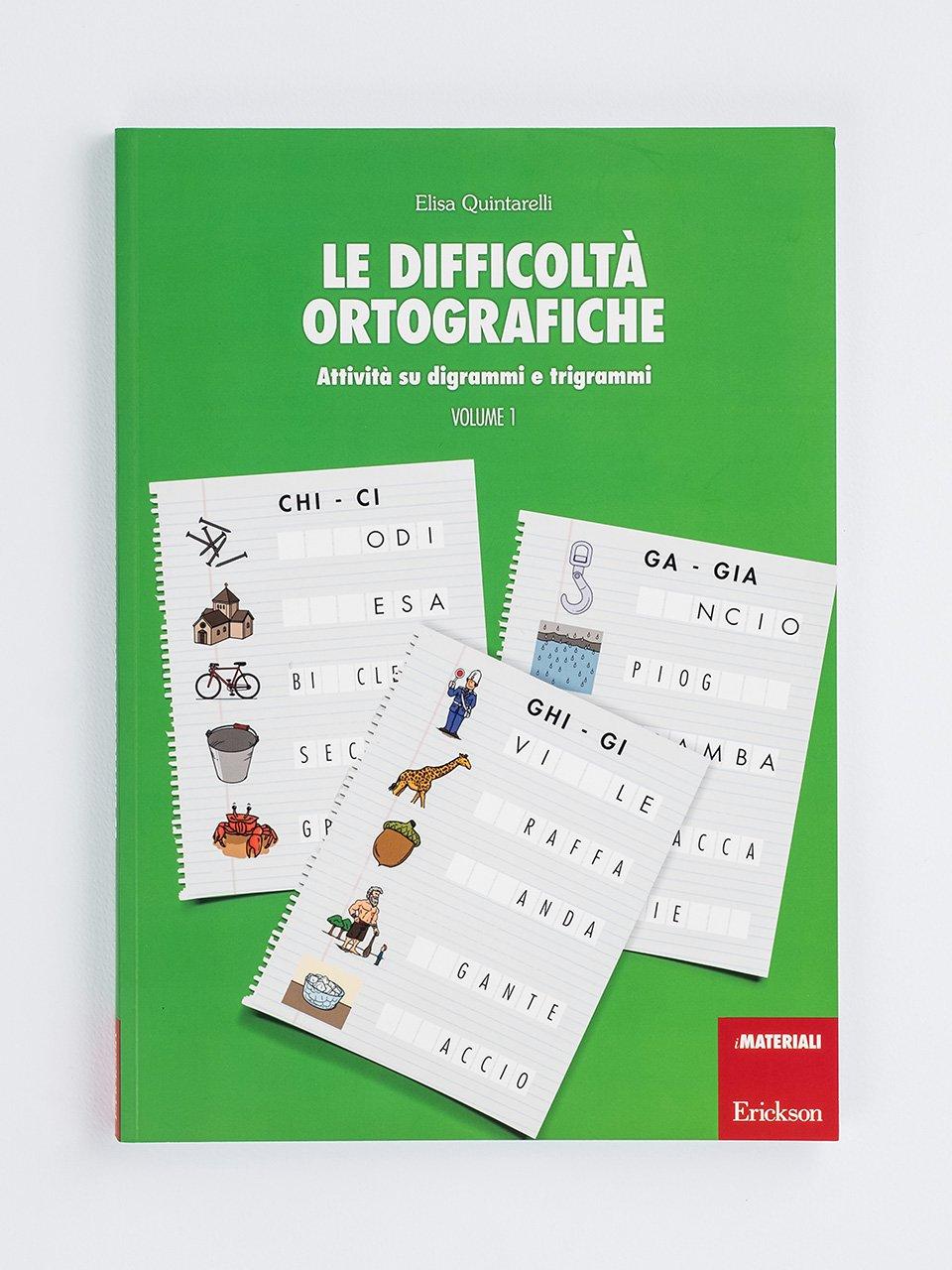 Le difficoltà ortografiche - Volume 1 - Schede per Tablotto (6-8 anni) - Grammatica incant - Giochi - Erickson 2