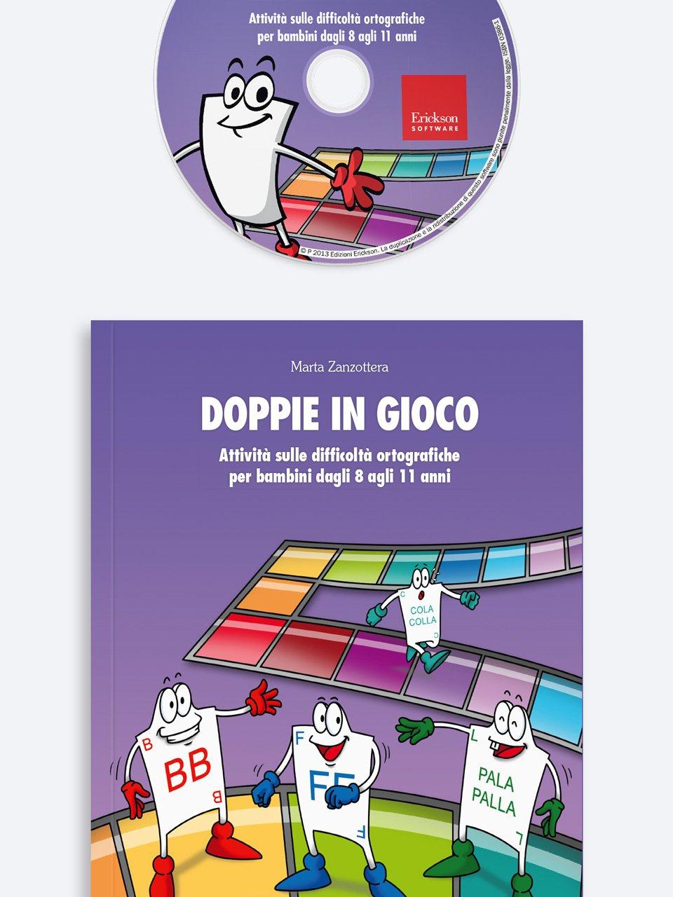 Doppie in gioco - Schede per Tablotto (6-8 anni) - Grammatica incant - Giochi - Erickson 3