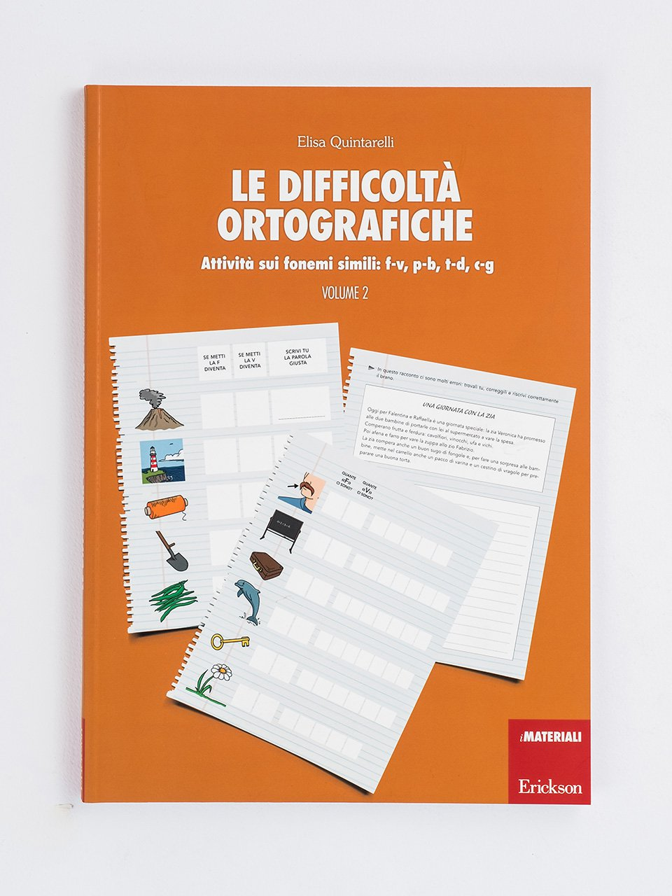 Le difficoltà ortografiche - Volume 2 - Schede per Tablotto (6-8 anni) - Grammatica incant - Giochi - Erickson 3